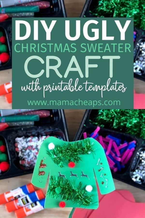 DIY Ugly Christmas Sweater Craft PIN