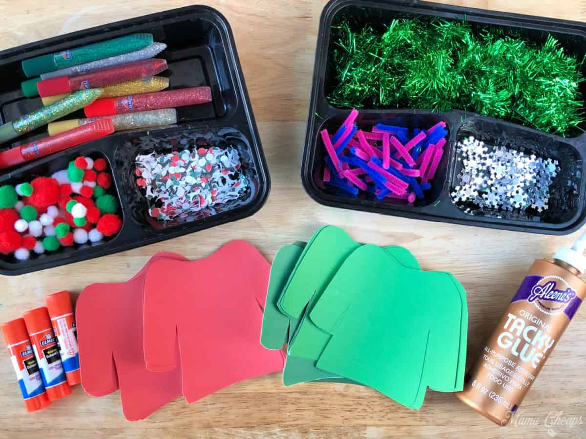 DIY Ugly Sweater Craft Supplies