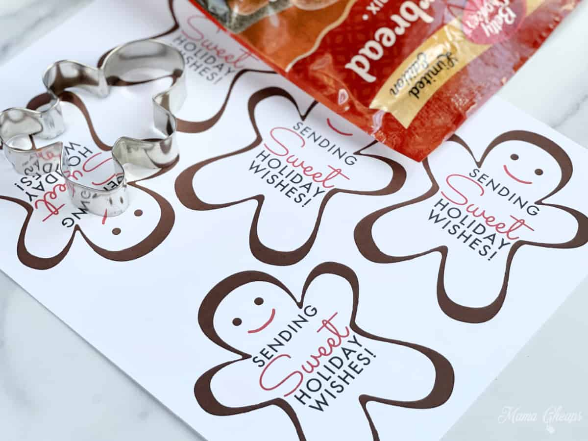 Gingerbread Cookie Tags