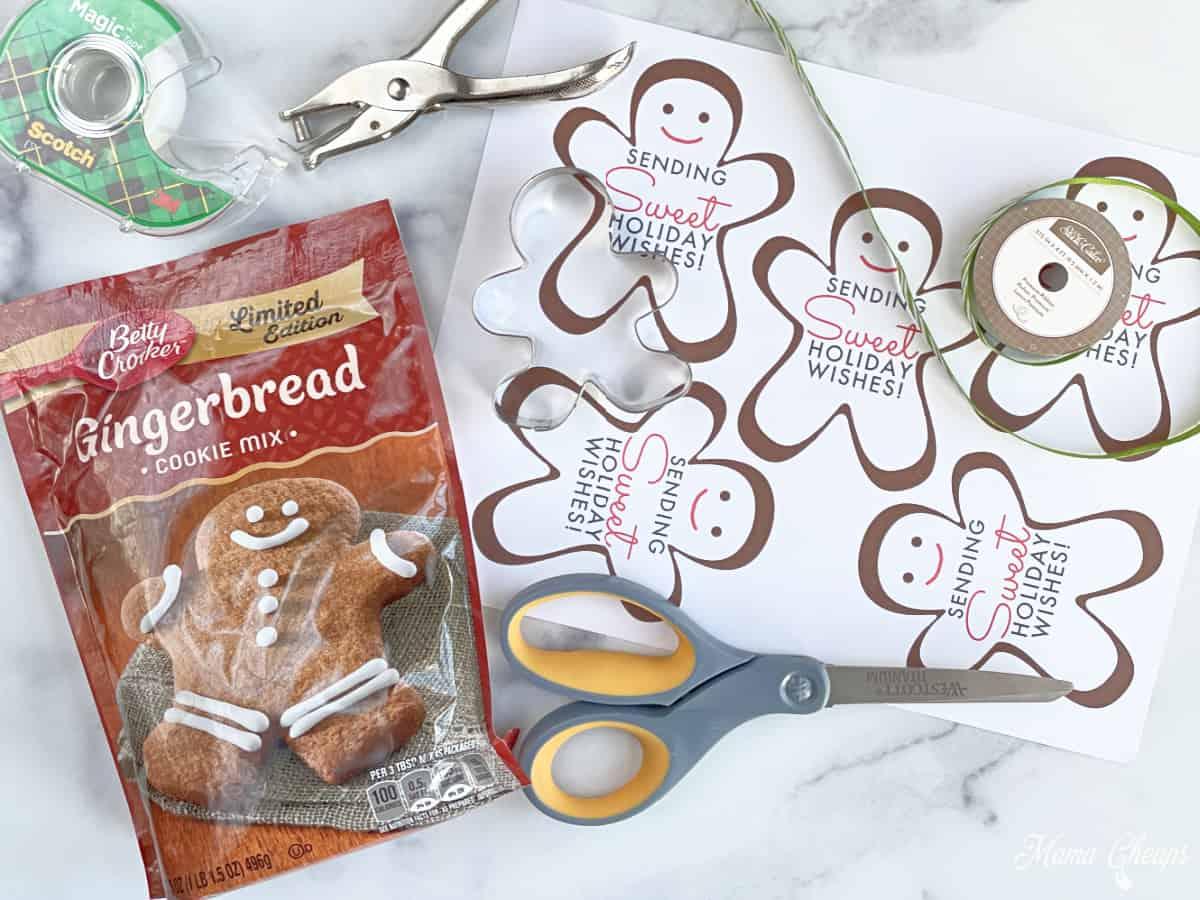 Gingerbread Cookies Gift Supplies
