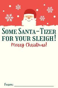 Santa Tizer Pocket Bac Card