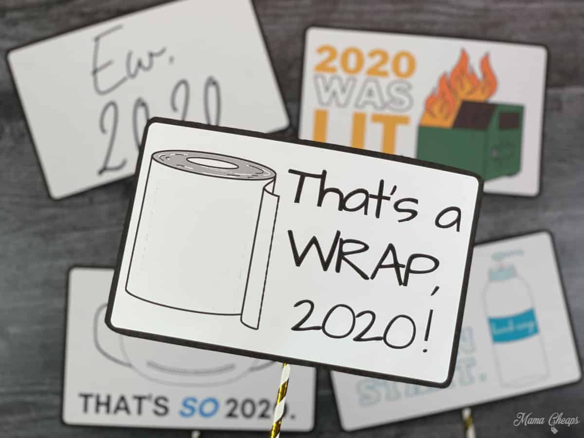 Thats a Wrap Sign Close Up