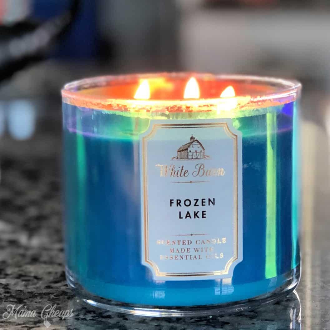 White Barn Frozen Lake Candle