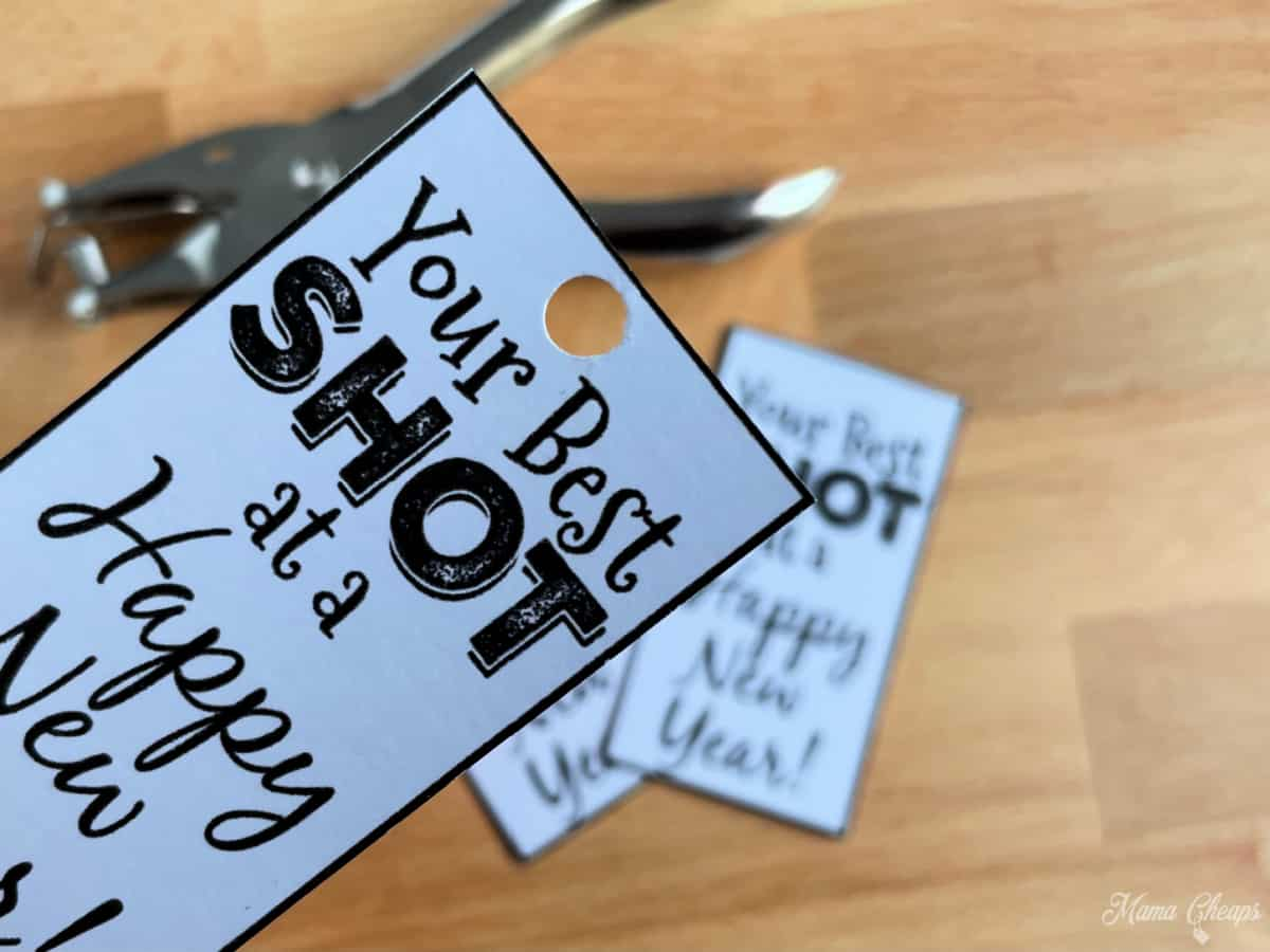 hole punch gift tag