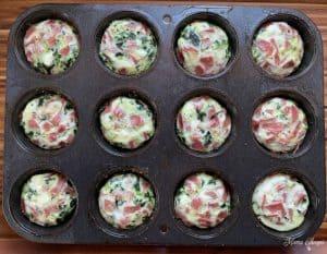 Baked egg whites in muffin tin