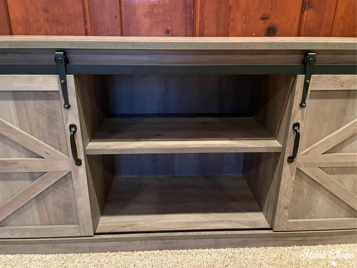Close up wayfair cabinet