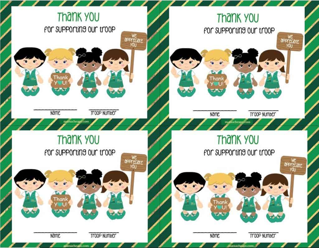 girl scouts thank you cards
