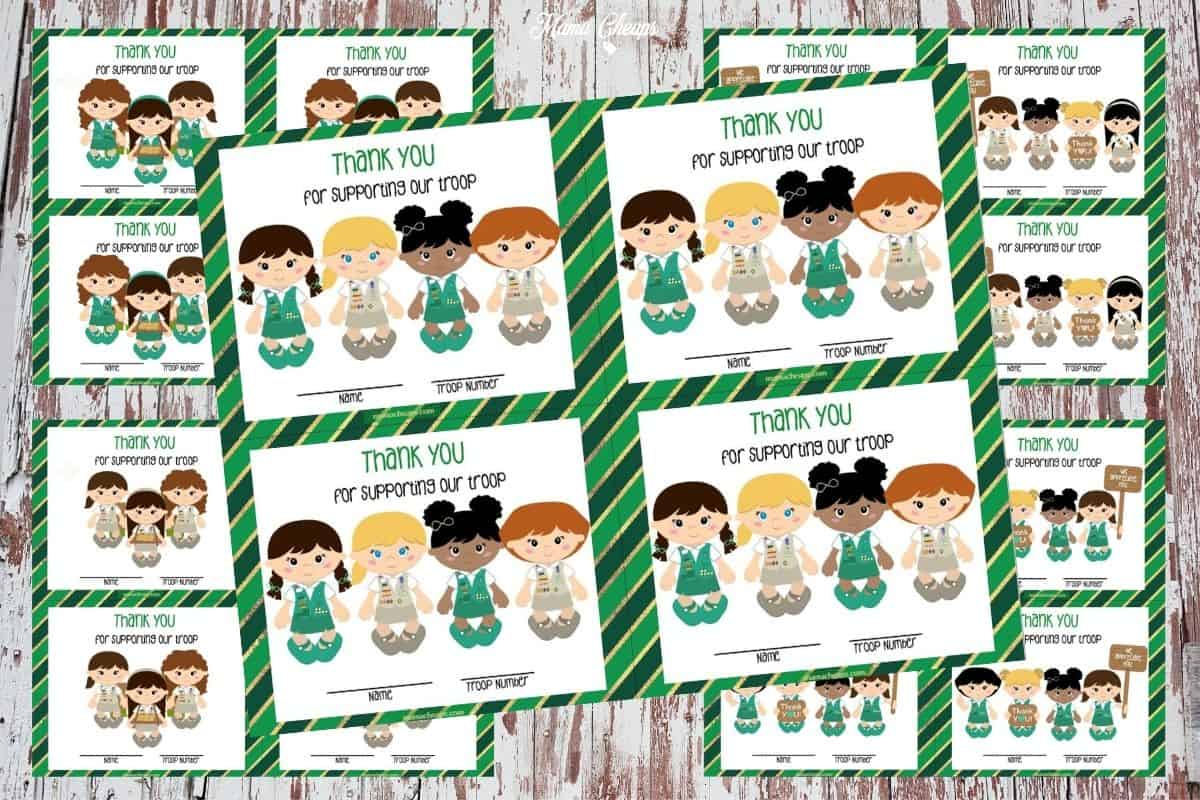 Girl Scout Thank You Cards FEATURED