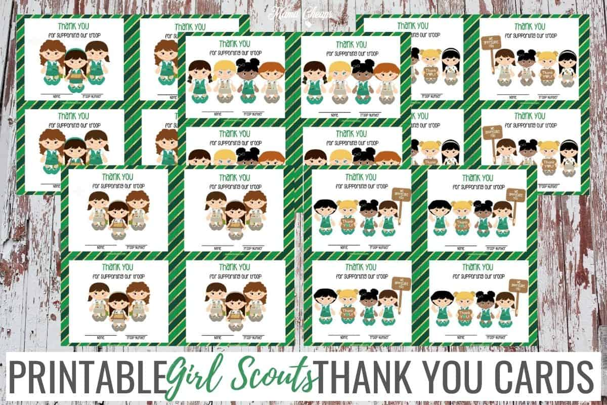Girl Scout Thank You Cards HERO