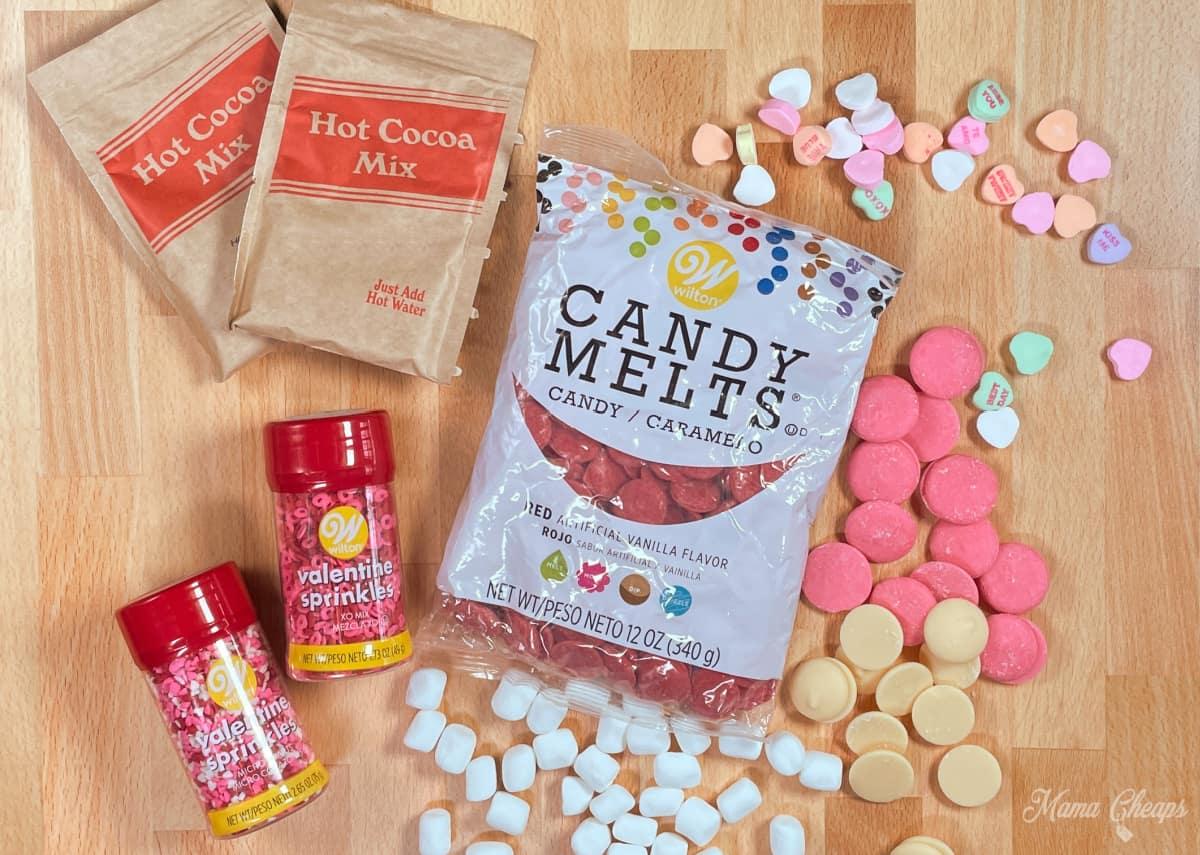 Valentine Hot Chocolate Bomb Ingredients