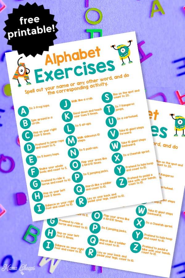 Alphabet Exercises PIN 2