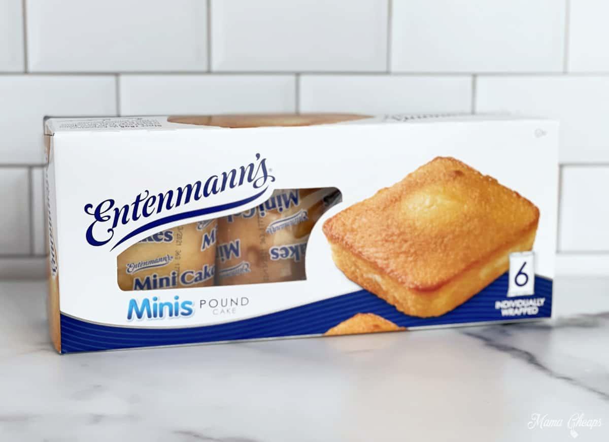 Box of Entenmanns Mini Pound Cakes