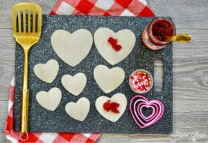 Pastry Dough Heart Stencils
