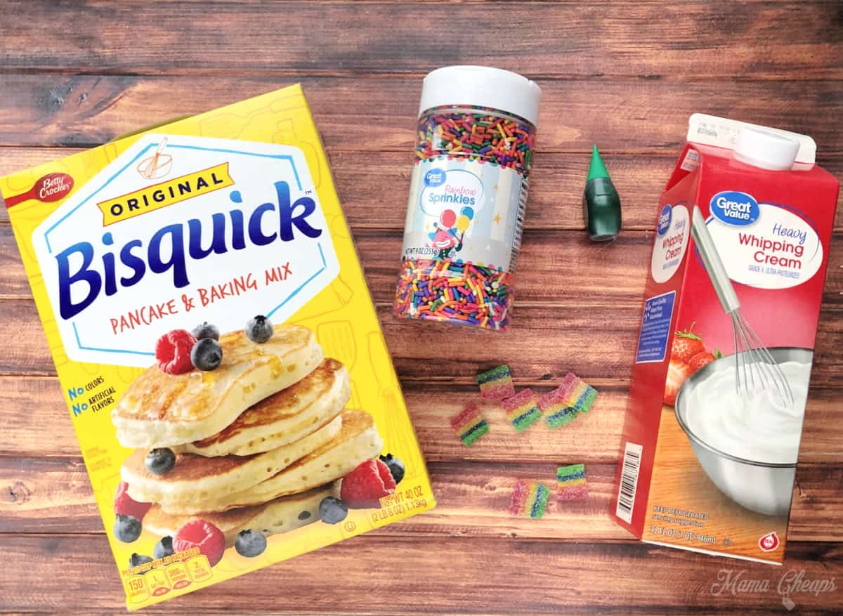 Rainbow Pancakes Ingredients
