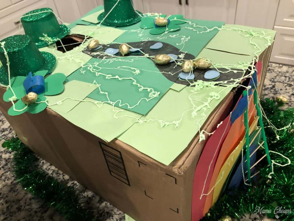 Silly String on Leprechaun Trap