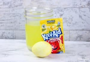 Kool Aid Dyed Easter Eggs LEMONADE