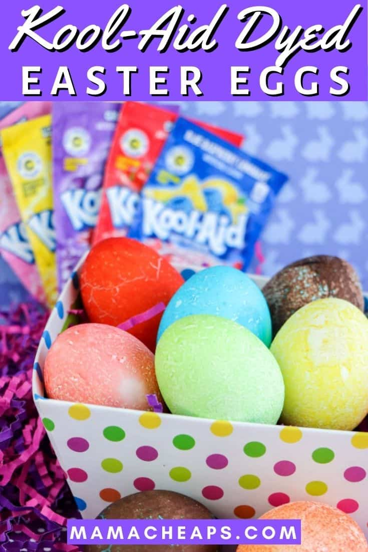 Kool Aid Dyed Easter Eggs PIN