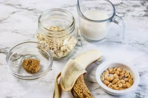 Peanut Butter Banana Overnight Oats Process