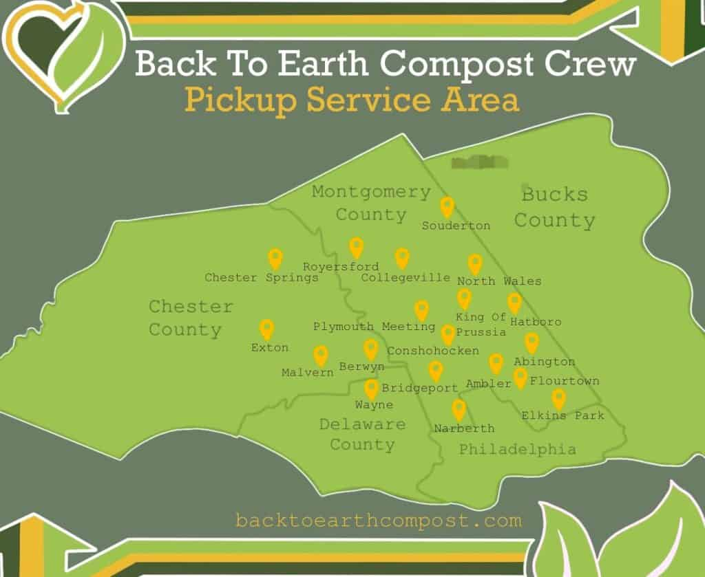 back to earth compost service map