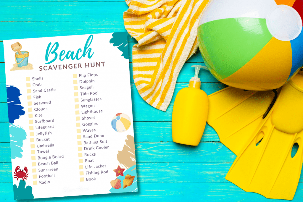 Beach Scavenger Hunt HERO