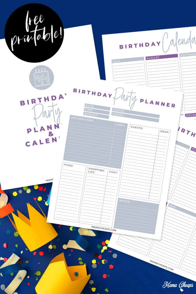Birthday Party Planner PIN