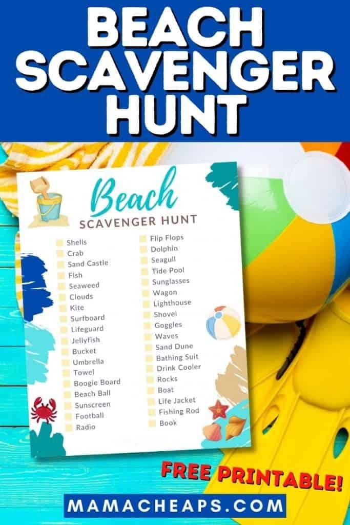 beach scavenger hunt PIN