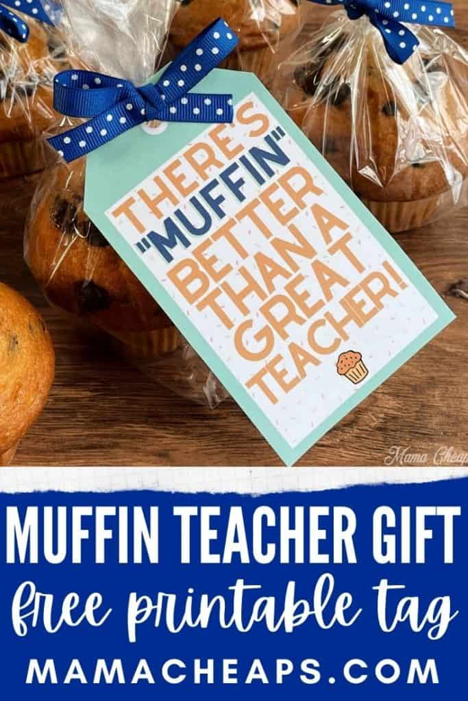 muffin teacher gift tag PIN