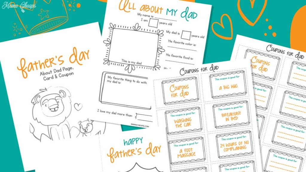 All About Dad Printable Pack Hero