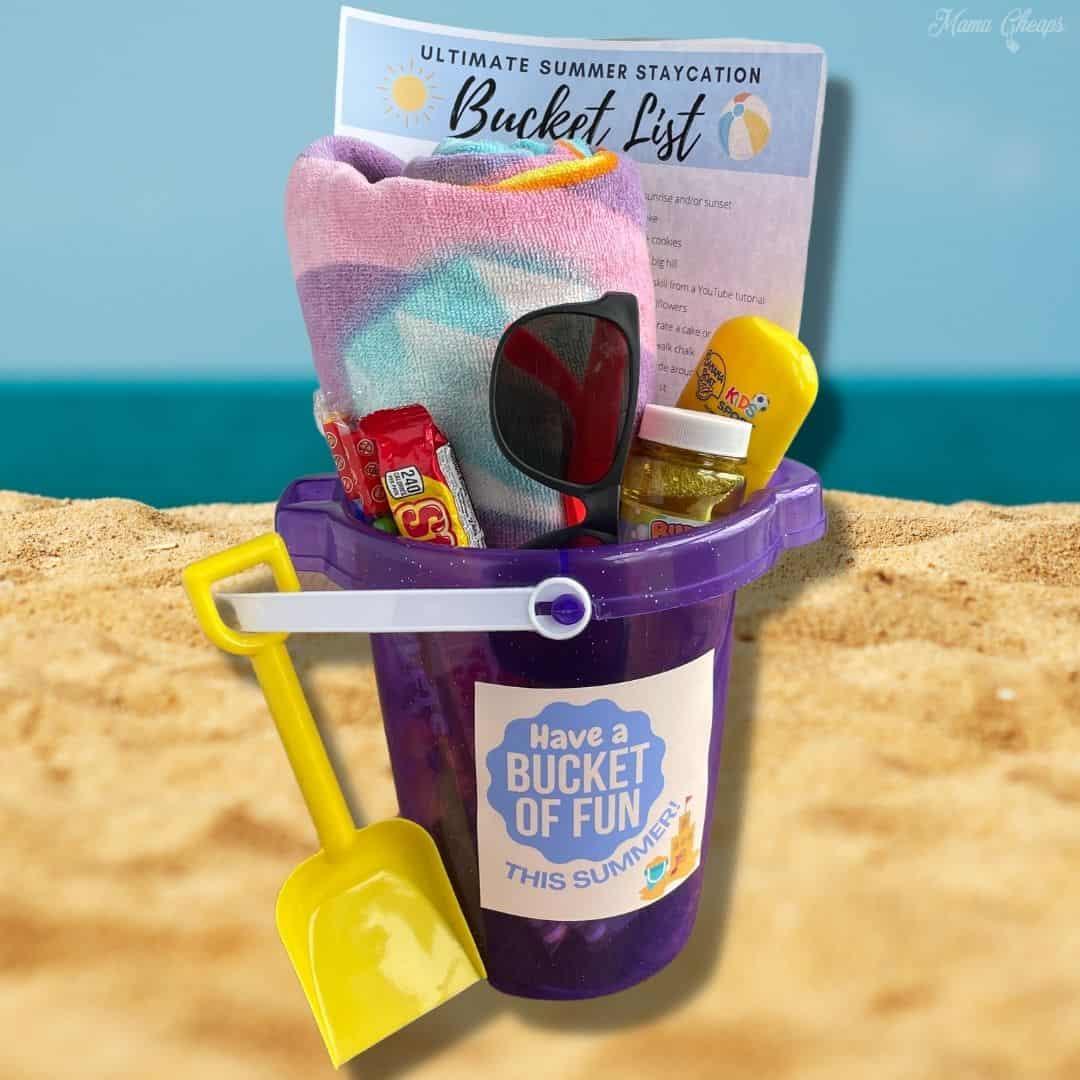 Beach Bucket Gift SQUARE