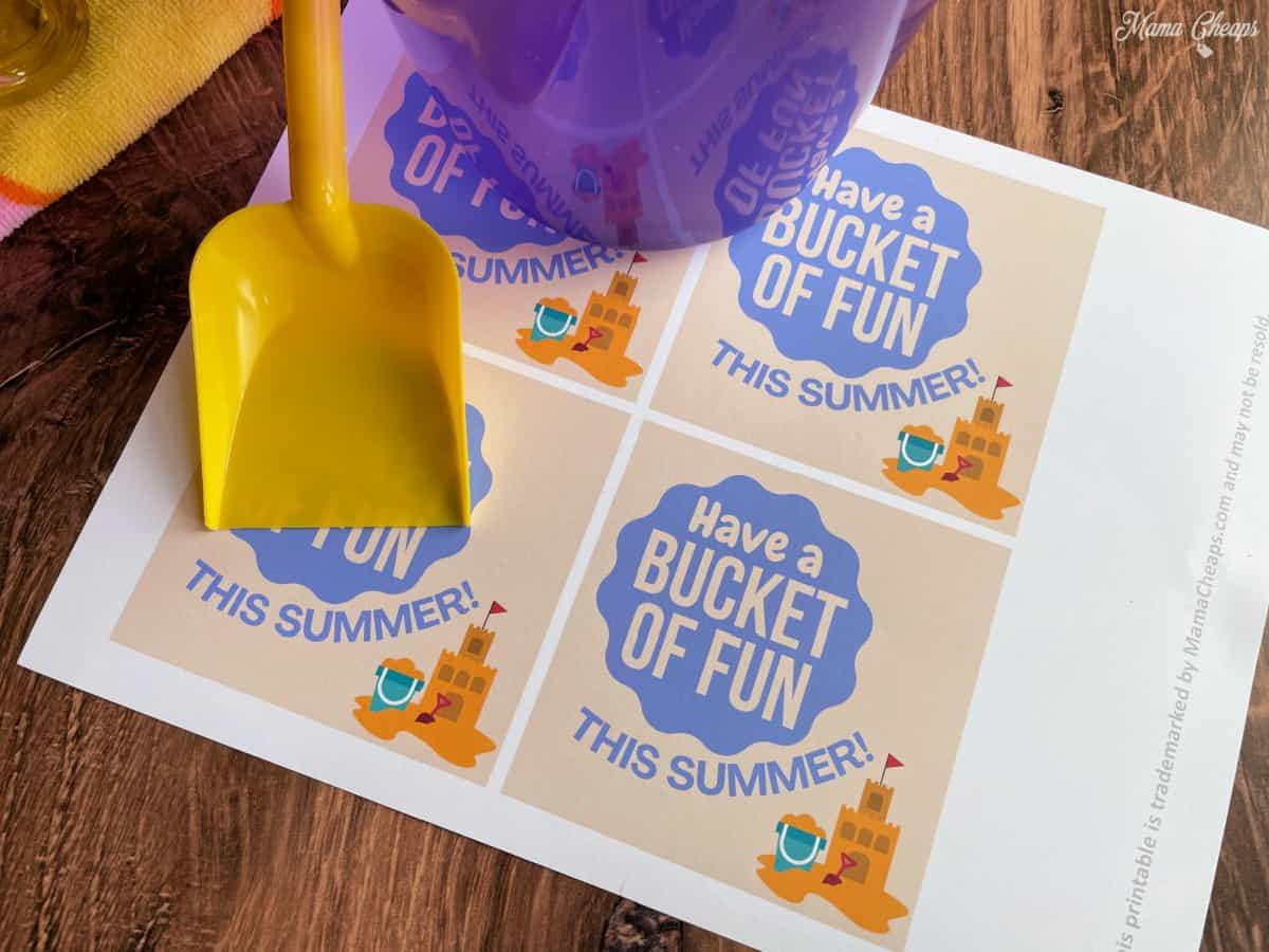 Bucket of Fun Tags