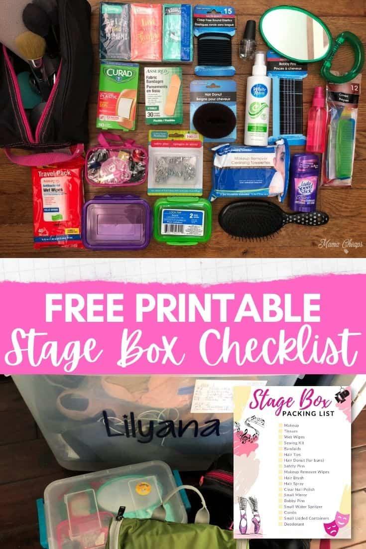 Stage Box Checklist PIN
