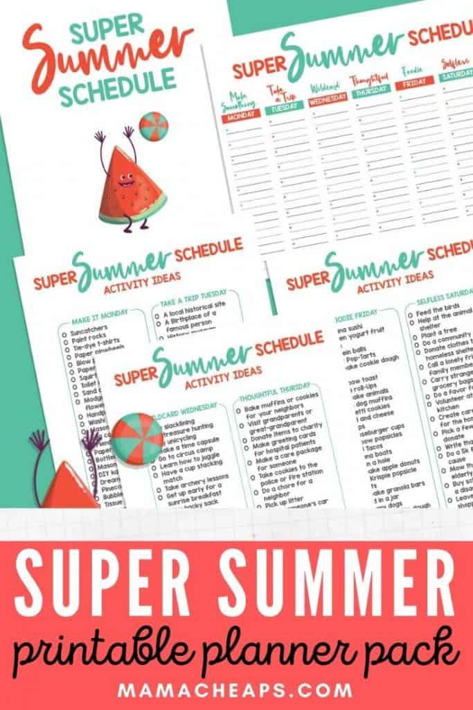 Super Summer Schedule PIN