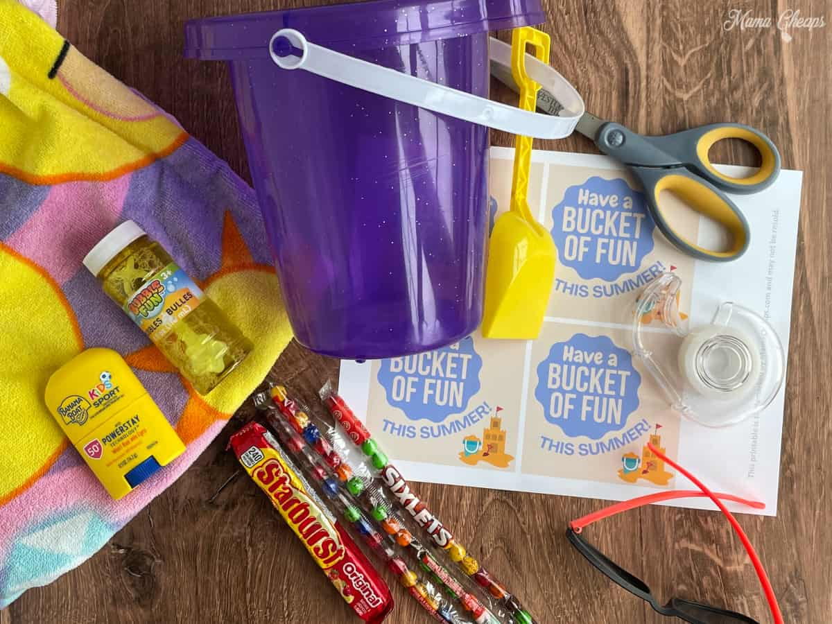 Supplies for Bucket of Fun