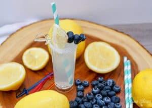 blueberry garnish lemonade shooter