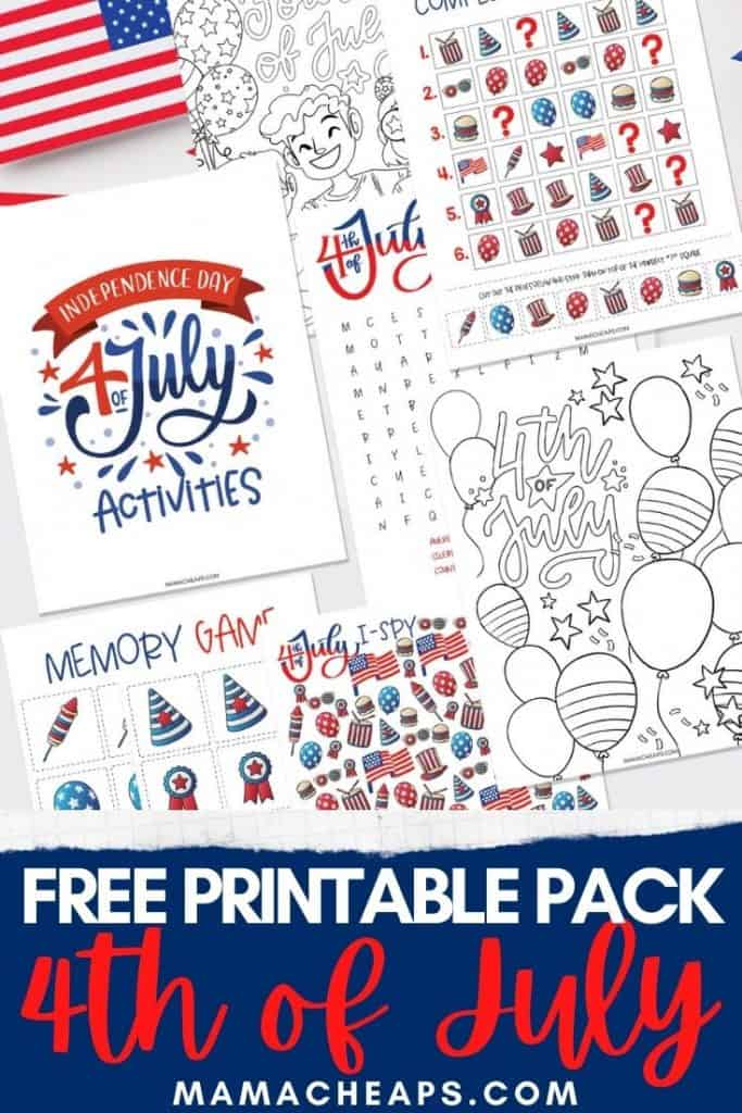 4th of July Printable Pack PIN
