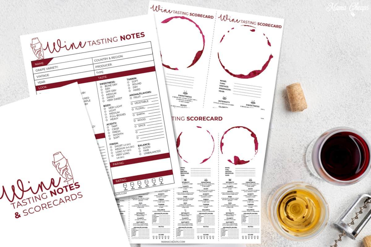 Wine Tasting Scorecard HERO