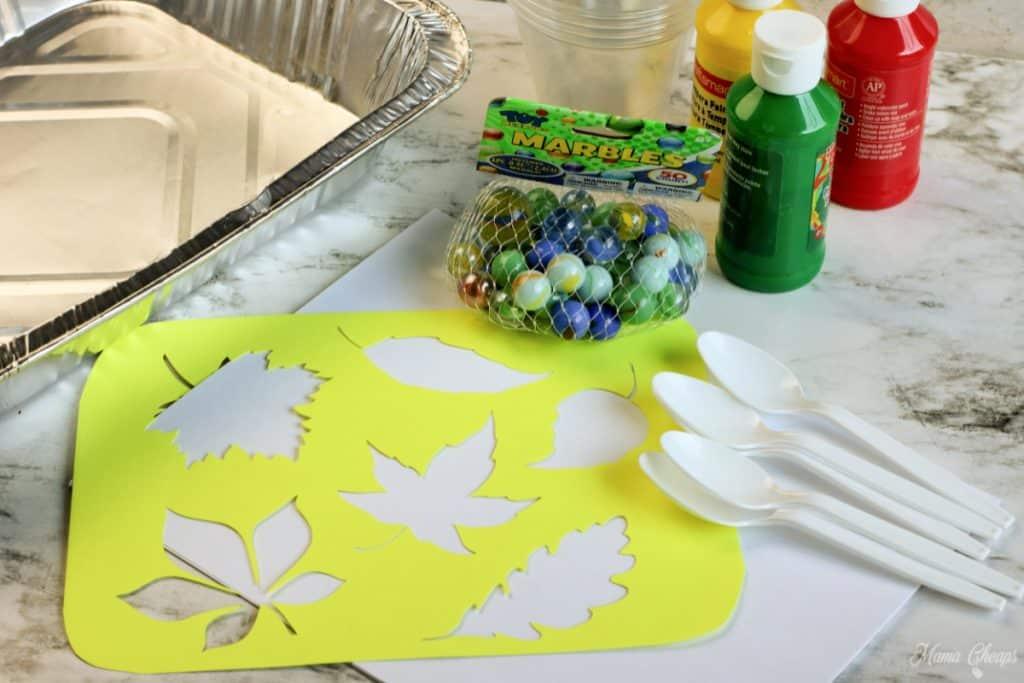 Marble Leaf Painting Supplies
