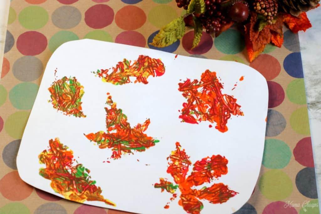 Marble Leaf Paintings Landscape