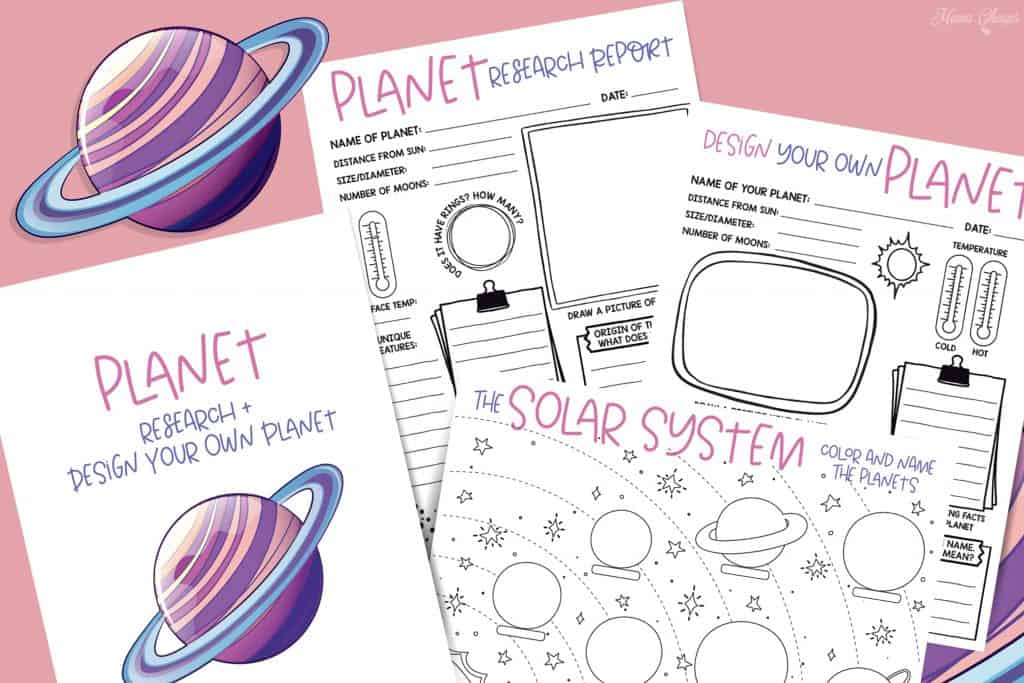 Planet Research and Design Your Own Pack
