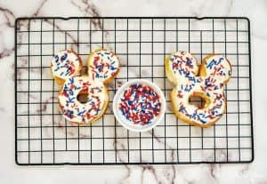 Sprinkles on Air Fryer Donuts