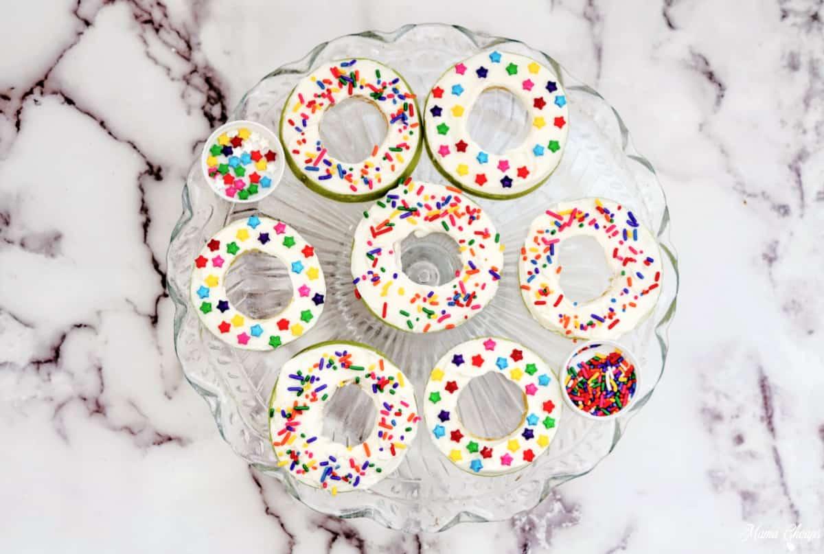 Apple Donut Snacks on platter