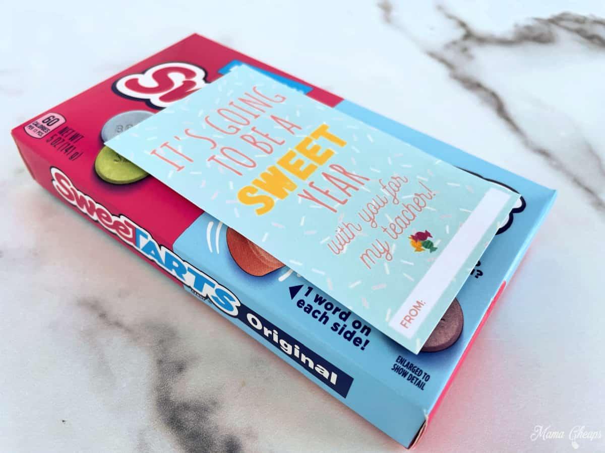 Box Sweet Tarts Teacher Gift