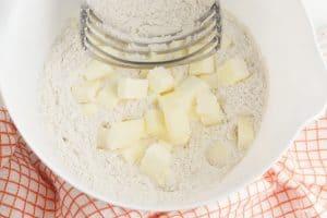 Chunks of butter