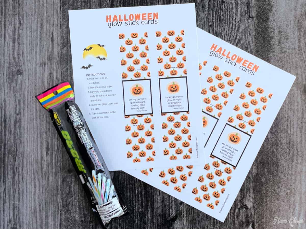 Halloween Glow Stick Holder Supplies