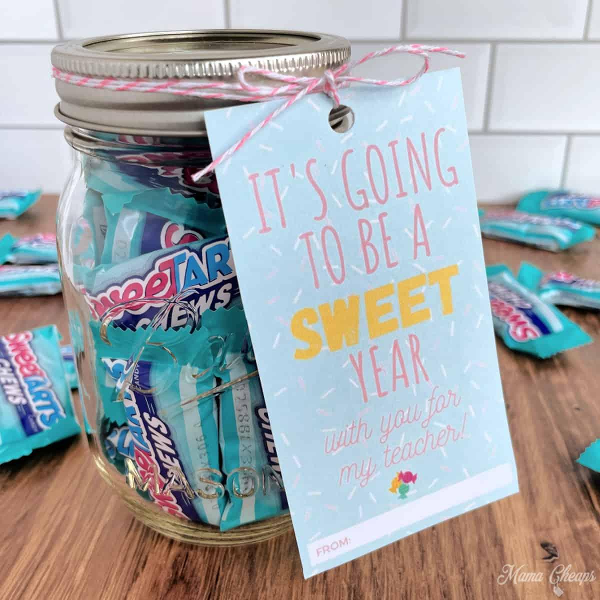 Sweet Tarts Jar Gift SQUARE