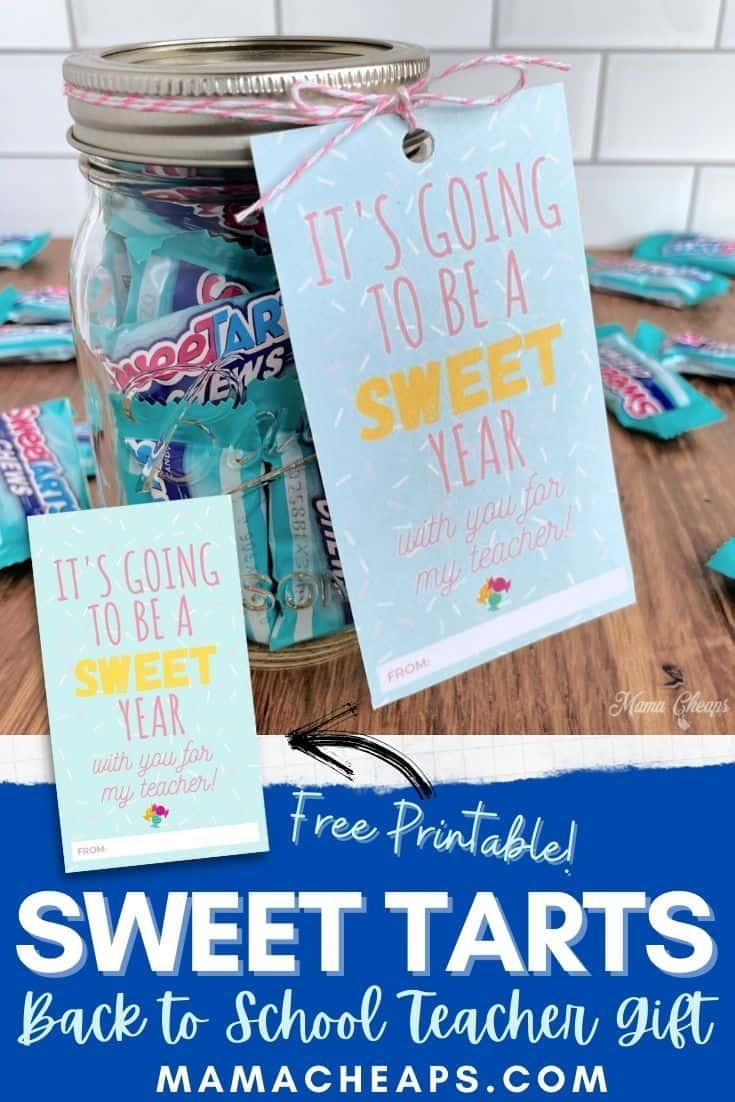 Sweet Tarts Teacher Gift Pin