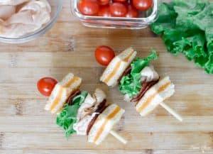 Turkey BLT Grilled Cheese Kabobs