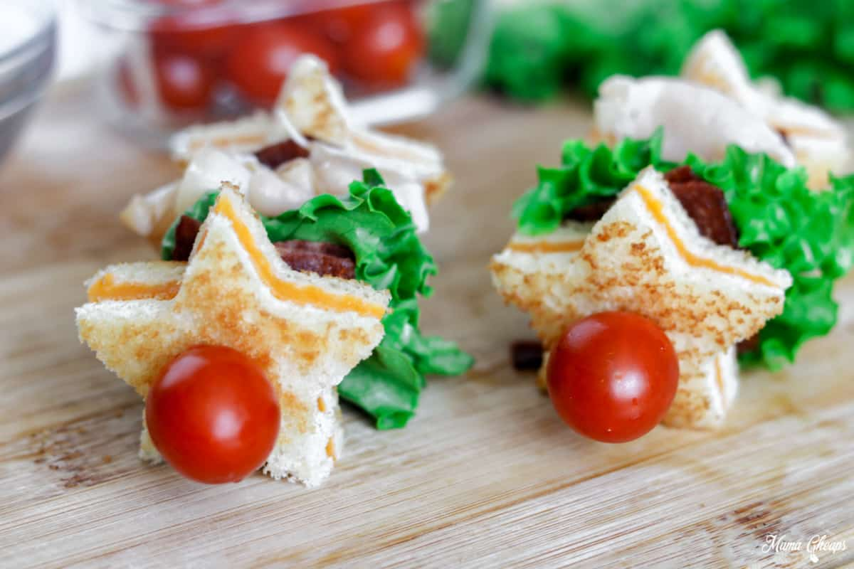 Turkey BLT Grilled Cheese Kabobs Close Up