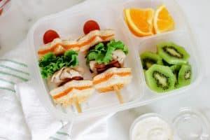 Turkey BLT Grilled Cheese Kabobs Lunchbox