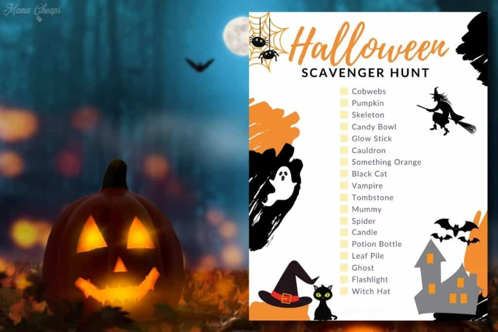 Printable Halloween Scavenger Hunt HERO